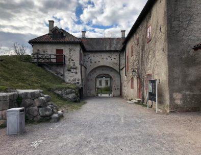 Bild från Nyköpingshus mot vandrarhemmet
